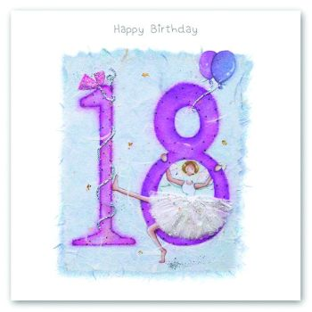 18th Birthday Card - FAIRY Card - HAPPY Birthday - MILESTONE Birthday - PRETTY Female Birthday CARD -  Card FOR Daughter - Friend - SISTER