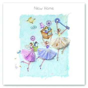 New Home Cards - NEW HOME – Cute Fairies - HOUSEWARMING Card - Moving CARD - Moving HOUSE Card - HOUSEWARMING Card FOR Friend - FAIRIES Card