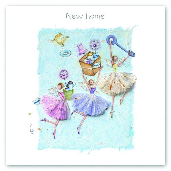 New Home Cards - NEW HOME – Cute Fairies - HOUSEWARMING Card - Moving CARD