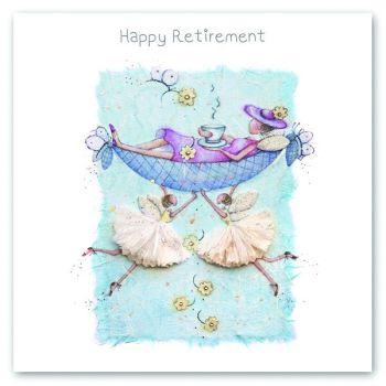 Retirement Cards - HAPPY Retirement - FAIRIES Card - HAPPY Retirement CARDS - CARD For Friend - PRETTY Retirement CARD For GRAN - Nan - MUM