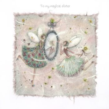 Birthday Card for Sister - To My MAGICAL Sister - BIRTHDAY Card for SISTER with FAIRIES - Fairy BIRTHDAY Card - Children's FAIRY Birthday Card