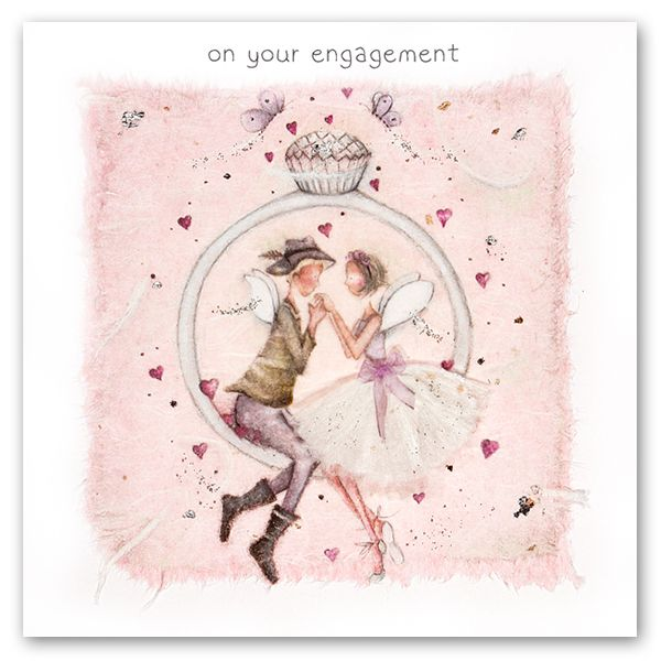 Pretty Engagment Card - ON Your ENGAGEMENT - Engagement Cards - ENGAGEMENT