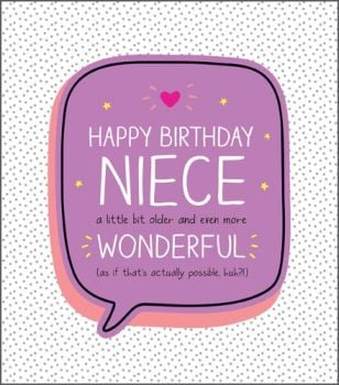 Birthday Card for Niece - EVEN More WONDERFUL - HAPPY BIRTHDAY Greeting Card - Funny NIECE Birthday CARD - SPARKLY Birthday CARD - PRETTY CARD