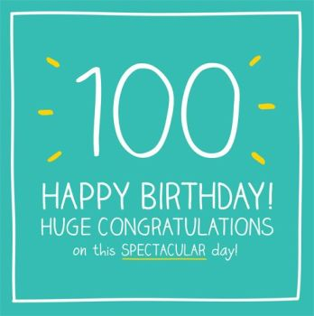 100th Birthday Card - HUGE Congratulations On This SPECTACULAR Day - HAPPY Birthday - 100th BIRTHDAY Greeting CARD - 100th BIRTHDAY card for MAN