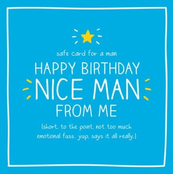Birthday Card - YUP Says It ALL Really - FUNNY Birthday CARD For Men - HAPPY Birthday NICE Man - BIRTHDAY Card FOR Friend - WORK Colleague - WORK Mate