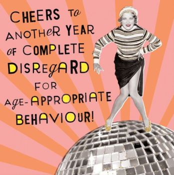 Birthday Card for Her - BAD Behaviour CARD - Funny BIRTHDAY Card - RETRO Card - CHEERS To ANOTHER Year - Card for Mum - GRAN - SISTER