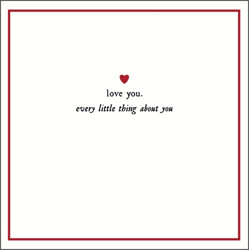 Valentine Card - LOVE You - Every Little THING About YOU - Valentine's CARD