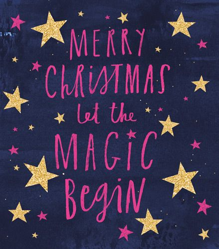 Christmas Cards - LET The MAGIC Begin - Merry CHRISTMAS Wishes - CHRISTMAS