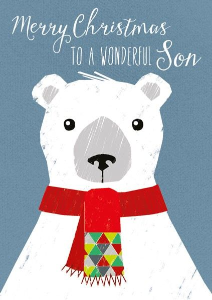 Wonderful Son Christmas Card - SON Christmas CARDS - MERRY Christmas - CUTE