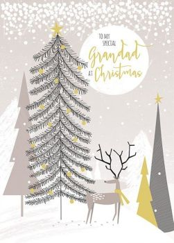 Grandad Christmas Cards - TO MY Special GRANDAD At CHRISTMAS - Special GRANDAD Christmas CARD - GOLD Foil CHRISTMAS Card - GRANDPARENTS Christmas CARD