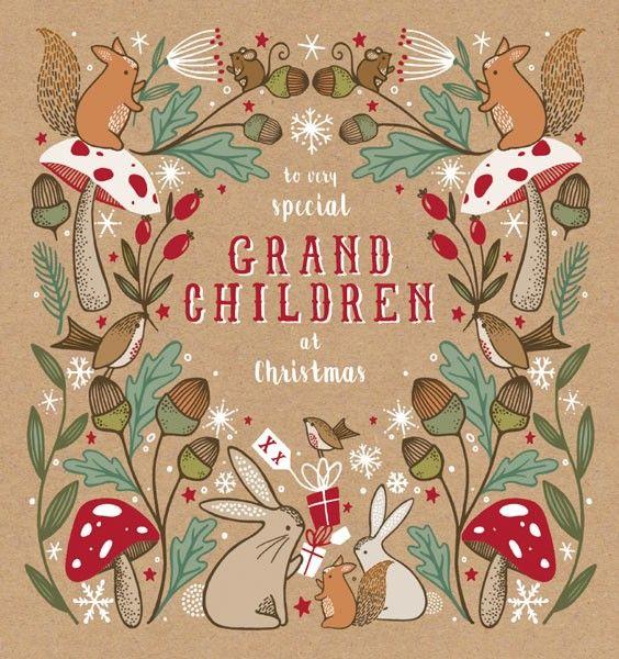 Grandchildren Christmas Card - TO VERY Special GRANDCHILDREN - Luxury Xmas