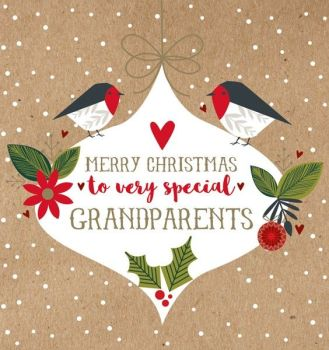 Christmas Cards for Grandparents - To Very SPECIAL Grandparents - GRANDPARENTS Christmas Cards - MERRY Xmas GRANDPARENTS Card - Christmas CARD