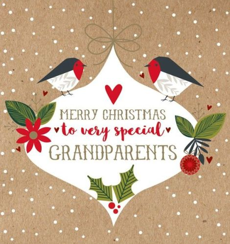 Christmas Card for Grandparents - Merry CHRISTMAS to Very SPECIAL ...