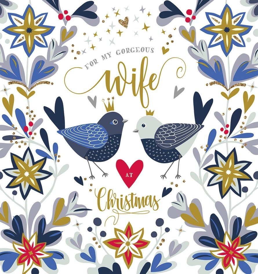 Wife Christmas Card - FOR My GORGEOUS Wife - GORGEOUS Wife CHRISTMAS Card -