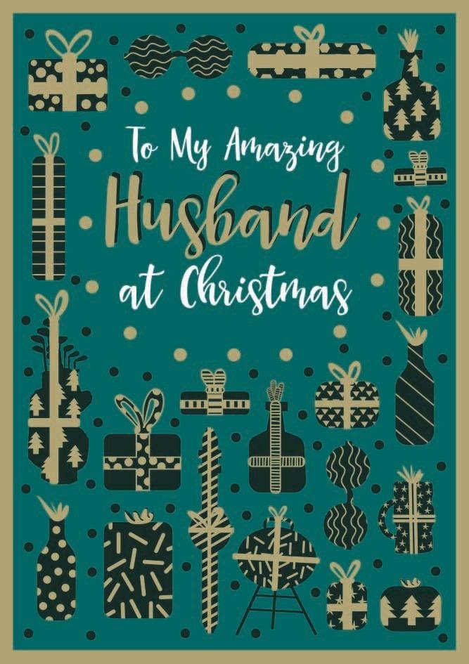 Husband Christmas Cards - TO My AMAZING Husband - CHRISTMAS Cards - HUSBAND