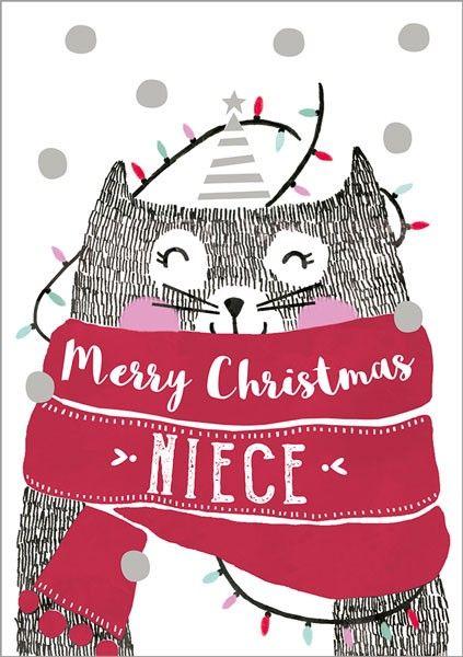 Merry Christmas Niece.Niece Christmas Cards Merry Christmas Niece Christmas Card Cat Christmas Cards Niece Christmas Card Christmas Greeting Cards