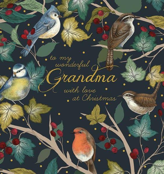 Grandma Christmas Card - Wonderful GRANDMA Christmas CARD - With LOVE at CH