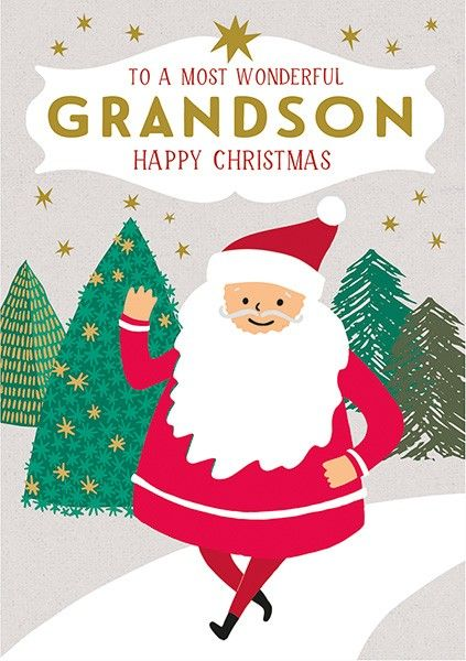 SPECIAL GRANDSON Christmas Card - To A Most WONDERFUL Grandson - Happy CHRI