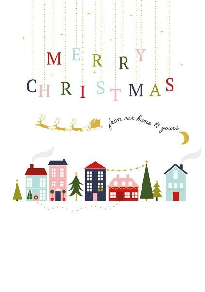 Merry Christmas From Our Home To Yours.Neighbour Christmas Card Merry Christmas Card From Our Home To Yours Christmas Cards Neighbour To Neighbour Xmas New Year Card