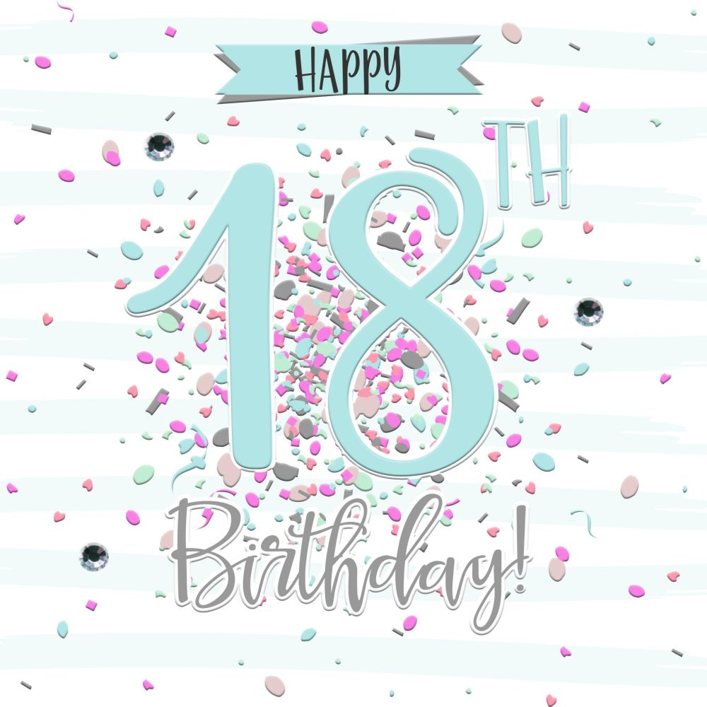 18th Birthday Basket For My Son S Birthday Filled With: 18th Birthday Card Girl- HAPPY 18th Birthday