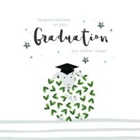 Graduation Cards - CLEVER Clogs - FUNNY GRADUATION Cards - CONGRATULATIONS Graduation Card Sheep - Graduation Congratulations - EXAM Success CARD