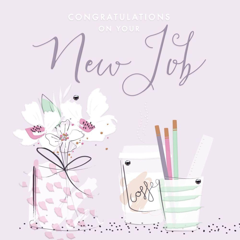 New Job Cards - CONGRATULATIONS Card - Congratulations ON Your New JOB - PR
