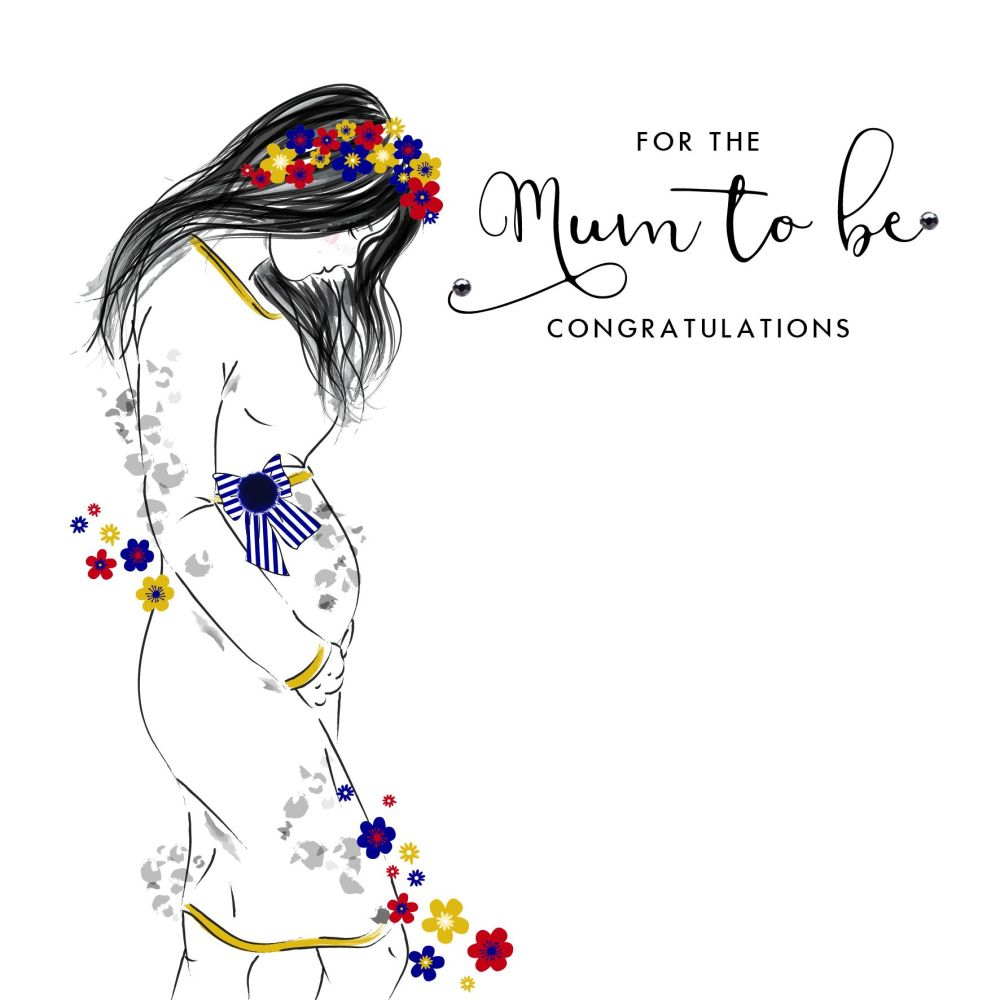 Mum To Be Greeting Card - FOR The MUM To BE - Pregnancy CONGRATULATIONS Car