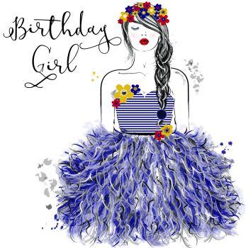 Birthday Card - BIRTHDAY Girl - Birthday Greeting CARD - PRETTY Birthday CARD For HER - BIRTHDAY Card For SISTER - Daughter - NIECE - Friend