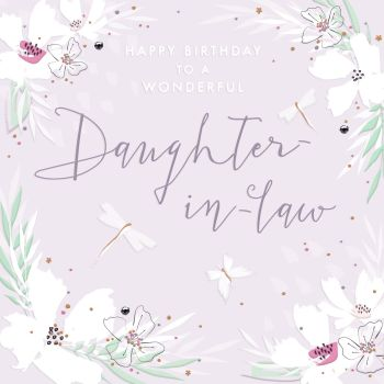 Birthday Cards - To A WONDERFUL Daughter In Law - DAUGHTER In LAW Birthday Cards - HAPPY BIRTHDAY Greeting Card - DAUGHTER In LAW Birthday GREETINGS