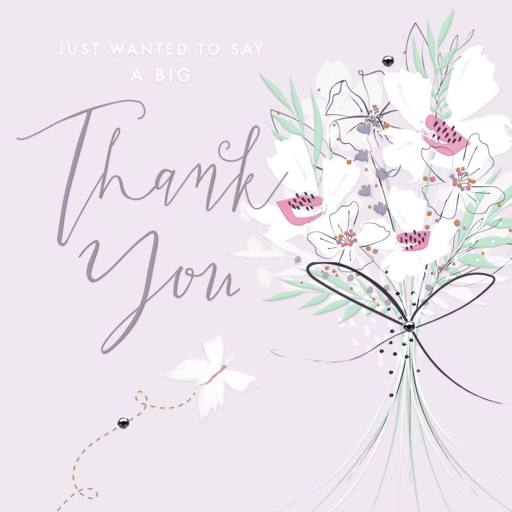 Thank You Cards - FLORAL Thank You Card - THANK You CARD Flower BOUQUET - J
