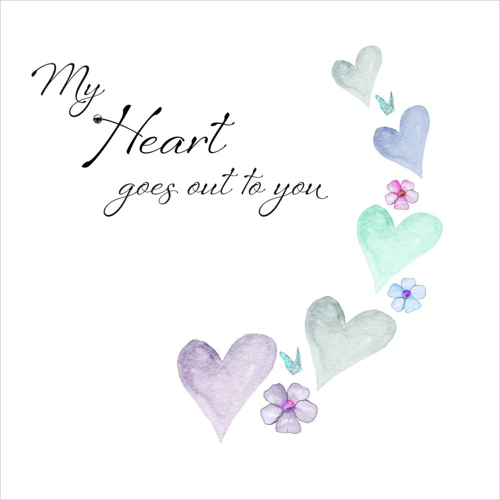 My Heart Goes Out To You Sympathy Card - SYMPATHY Card - CONDOLENCE Card -
