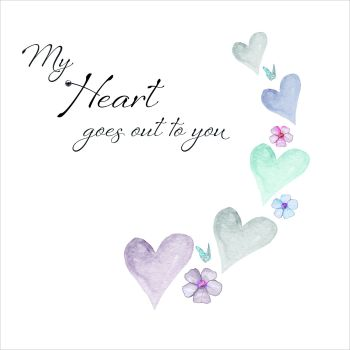 My Heart Goes Out To You Sympathy Card - SYMPATHY Card - CONDOLENCE Card - SYMPATHY Message - HEARTFELT Card