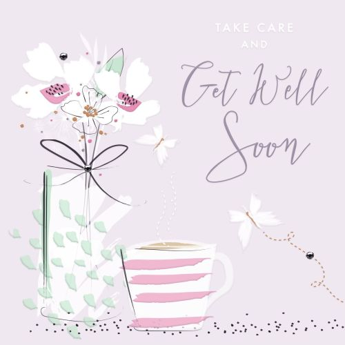Female Get Well Card Take Care Get Well Soon Get Well Wishes