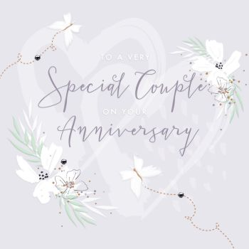 Special Couple Anniversary Cards - To A a Very SPECIAL Couple - COUPLE Anniversary Cards - LOVE Hearts ANNIVERSARY Card - ANNIVERSARY Cards For WIFE
