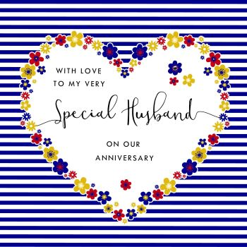 Special Husband Anniversary Cards - With LOVE To My VERY SPECIAL Husband - Heart Wedding ANNIVERSARY  Card - ANNIVERSARY Cards For HUSBAND