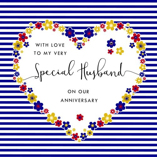 special husband anniversary cards  with love to my very