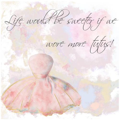 Ballerina Female Birthday Card Life Would Be Sweeter Handmade