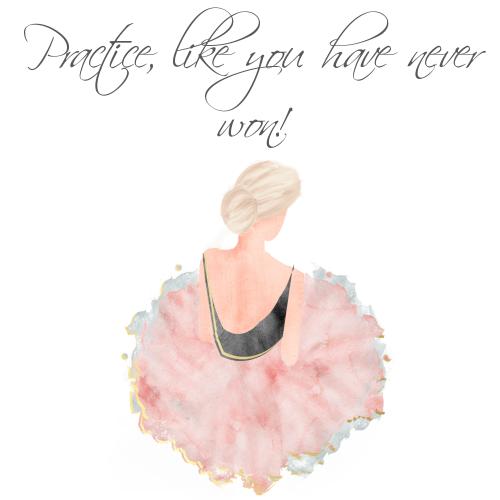 Ballerina Birthday Card Practice Like You Have Never Won Handmade