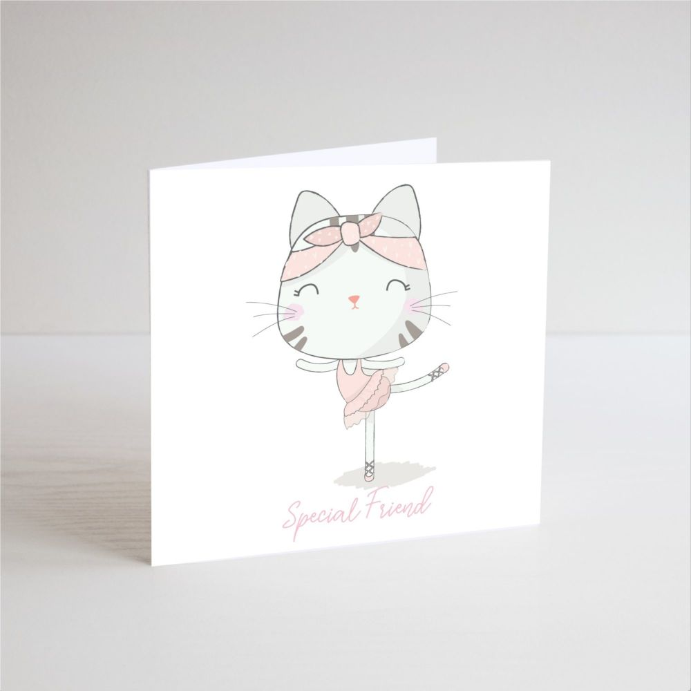Birthday Card for Girl - SPECIAL Friend - BALLERINA Birthday Card - Balleri