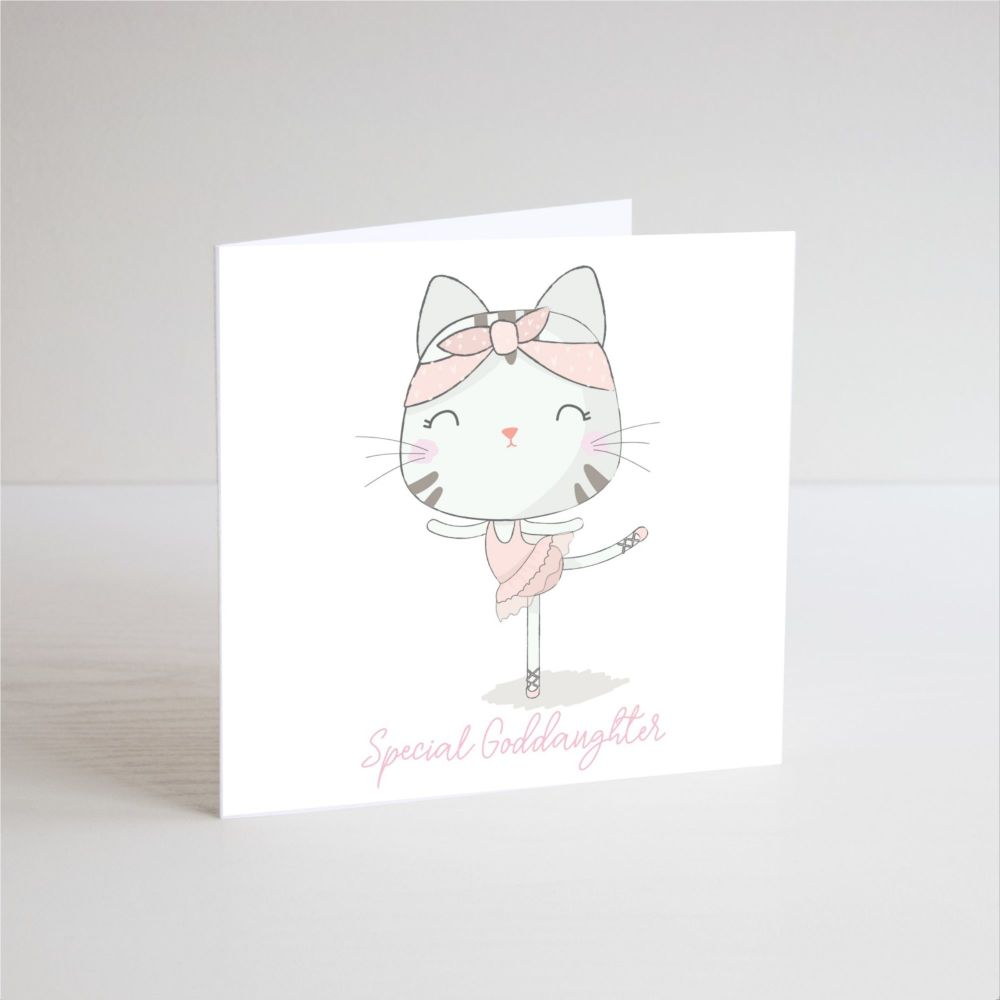 Birthday Card for Goddaughter - SPECIAL Goddaughter - BALLERINA Birthday Ca