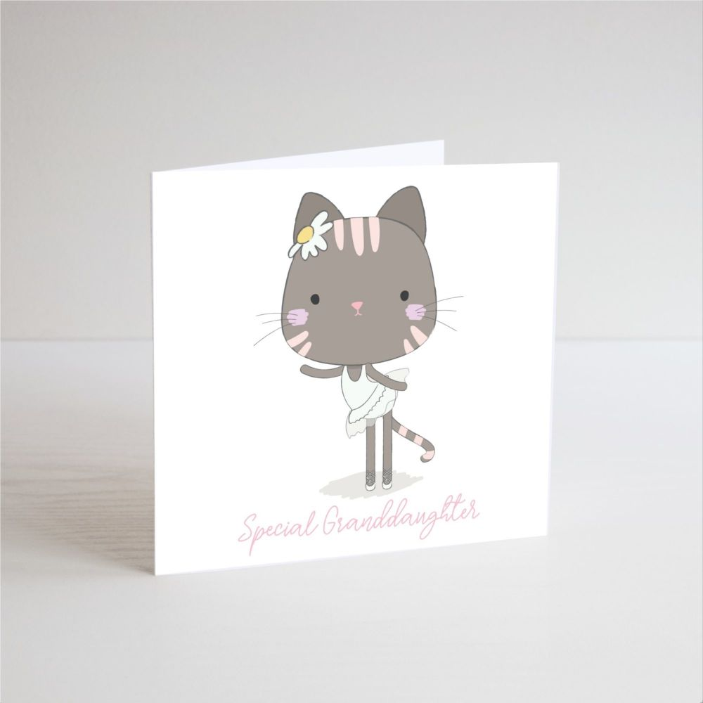 Birthday Card for Granddaughter - SPECIAL Granddaughter - BALLERINA Birthda