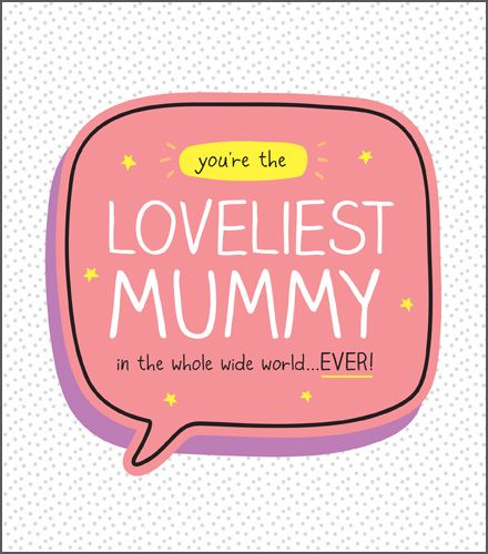 Loveliest Mummy Mothers Day Card - Mummy MOTHER'S Day GREETING Card - MOTHE