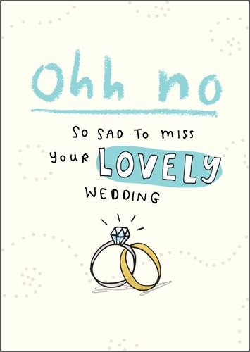 RSVP Wedding Regret Card - So SAD - RSVP Decline & REGRET Cards - Wedding R