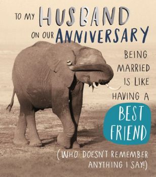 Anniversary Cards For Husband - BEING Married IS Like - WEDDING Anniversary CARDS - Funny ANNIVERSARY Card FOR Husband - SARCASTIC CARD