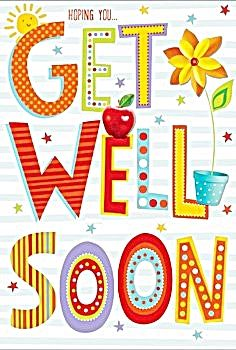 Get Well Soon Card - HOPING You GET Well SOON - Pretty Get Well CARD - Get Well WISHES - Get WELL Greeting Card