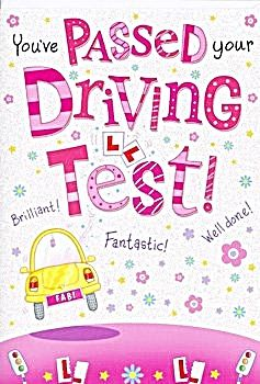 Driving Test Cards - WELL Done CARDS - YOU'VE Passed Your DRIVING Test - CONGRATS Passing DRIVING Test CARD - Driving CARD For HER - Female DRIVER CAR