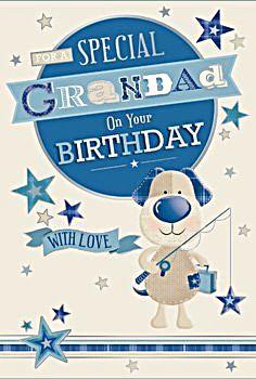 Grandad Birthday Cards  - FOR A Special GRANDAD - FISHING Bear CARD - WITH