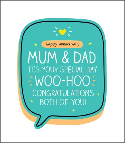 Anniversary Card For Parents - WOO HOO Congratulations - Funny ANNIVERSARY