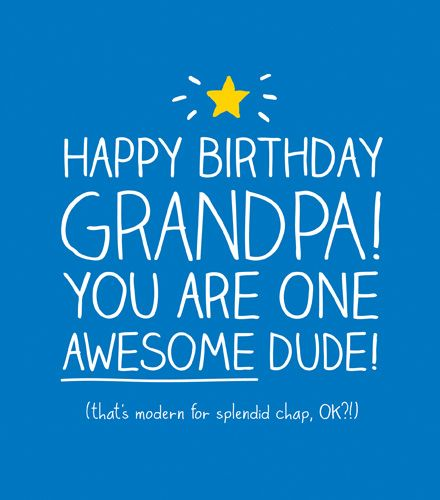 Greetings Card Happy Birthday Grandpa - BIRTHDAY Cards For GRANDPA - Happy