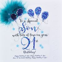21st Birthday Card For Special Son - LUXURY Boxed 21st BIRTHDAY Card - WITH Love On YOUR 21st BIRTHDAY - 21st Birthday CARD for SON - Son BIRTHDAY